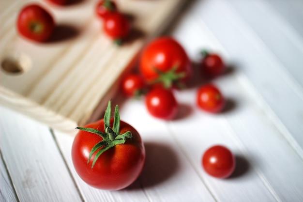 수확 신선한 토마토 상단