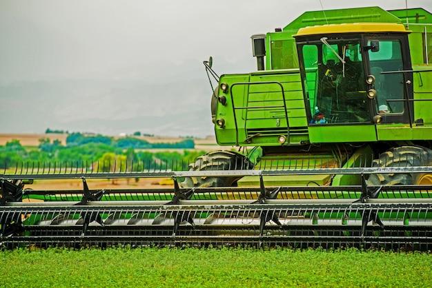 Harvester closeup