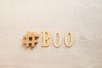 Hashtag and boo writing