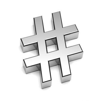 Hashtag chrome sign