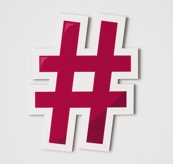 Hashtag online digital media icon