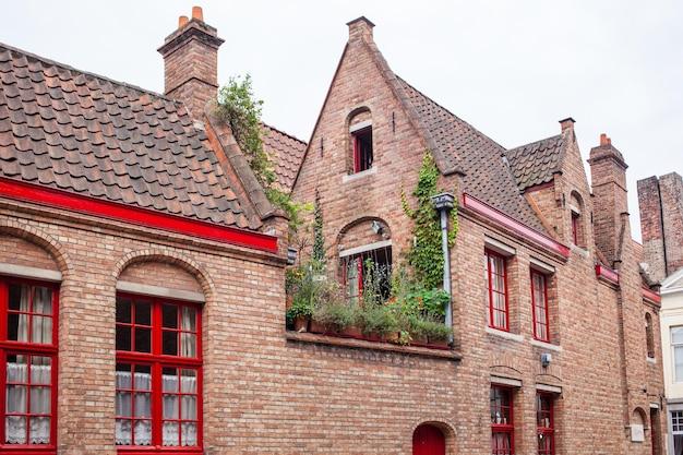 Дома исторического центра брюгге, бельгия