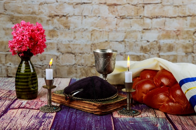 Havdala ceremony at the end of jewish saturday