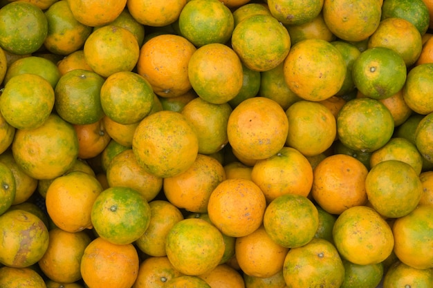 Havest of orang fruits, background gourmet