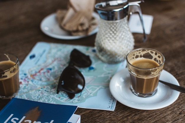 Having cortado while planning trip