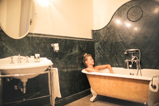 Having a nice bath