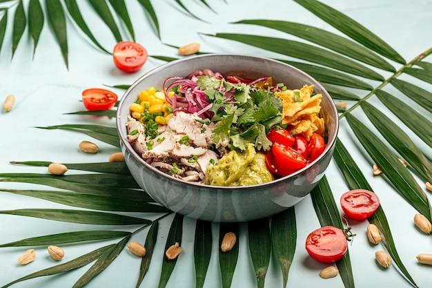 Гавайская курица с рисом и овощами