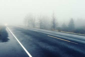 Haze on the road