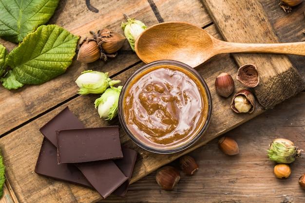 Hazelnut butter on natural,chocolate hazelnut butter on natural