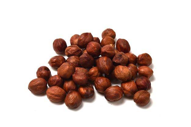 Hazelnut isolated on a white background.