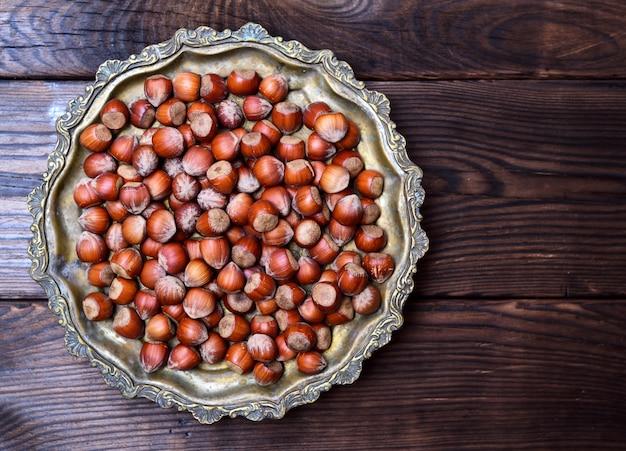 Hazelnut nut in shell