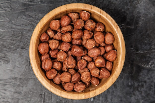 Hazelnuts top view