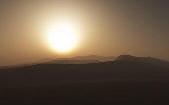 Hazy desert scene