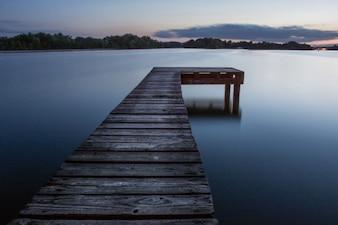 Hazy lake