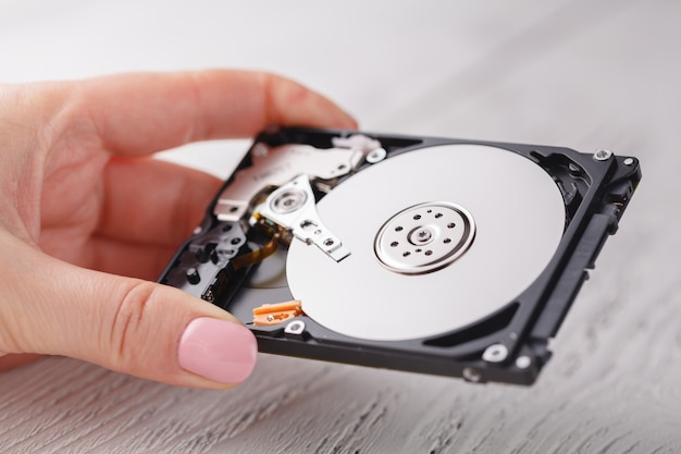 Hdd drives in hands