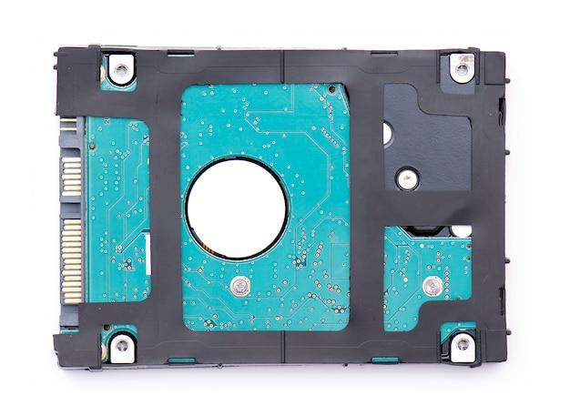 Hdd、ハードドライブ、または白で隔離されるハードディスク