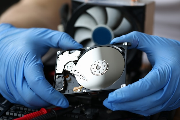 Hdd pc repair service concept