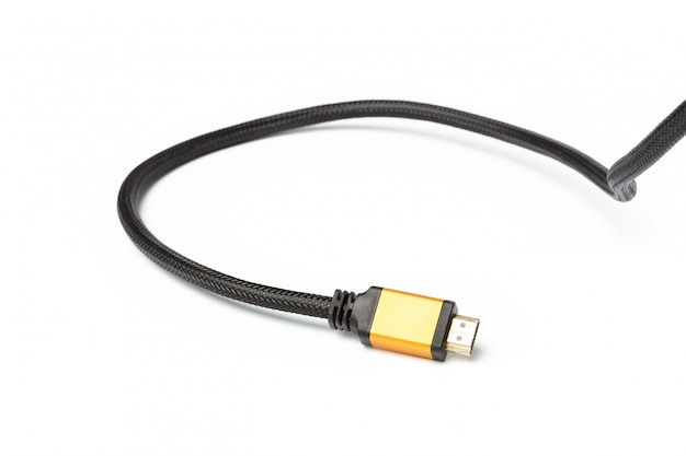 Hdmi cable isolated on a white background