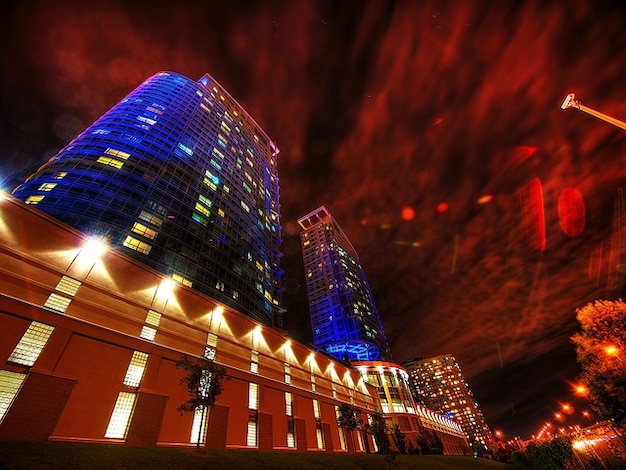 Канада торонто стены города ночному городу здание hdr