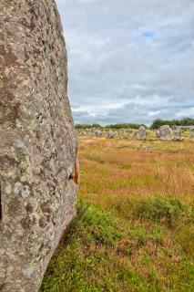 カルナックの石hdrブルターニュ