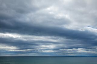 沿岸の雲でhdr風景レンジ