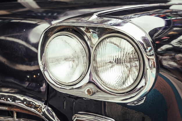 Head light of old car