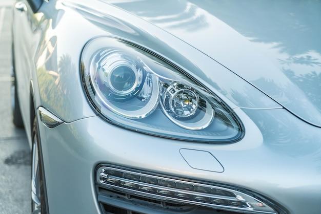 Head lights of a car
