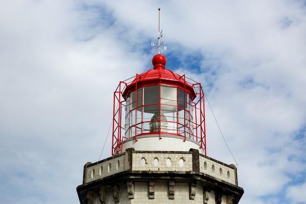 Head of old vintage lighthouse