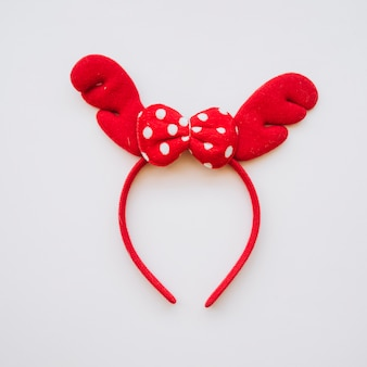 Headband with red antlers