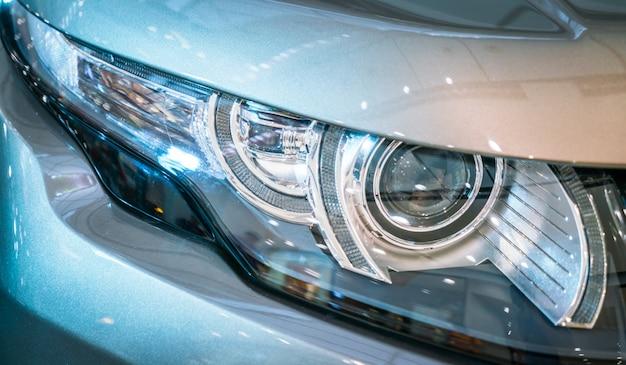 Headlights of car