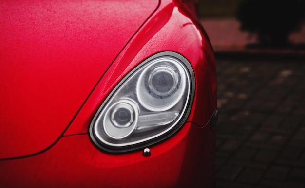 Headlights of sport car