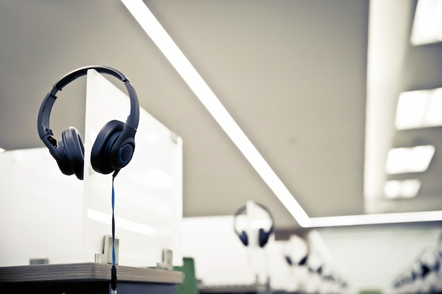Headphone for call center and hotline room.