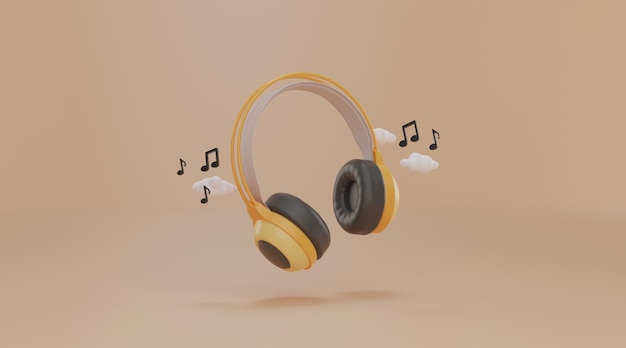 Headphone with note music.