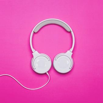 Headphones on bright background