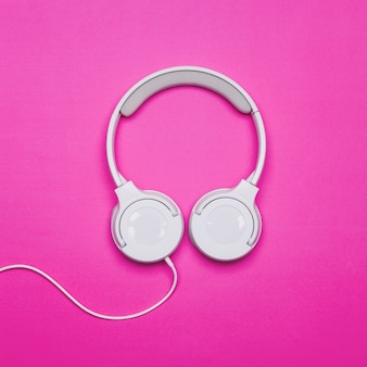 Headphones on bright background