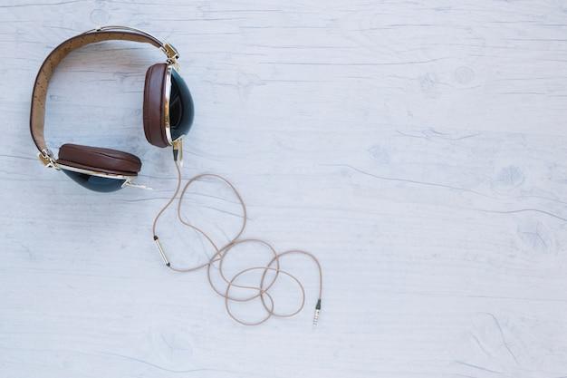 Headphones on white background