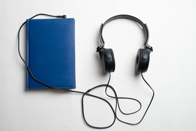Headphones with books
