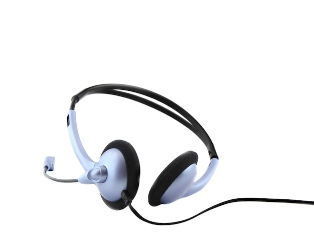 Headset with a microphone. isolated