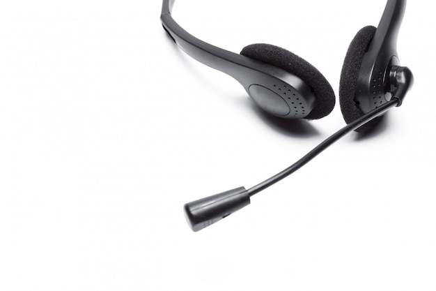 Headset with microphone isolated