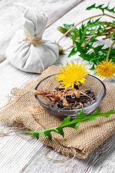 Healing dandelion root