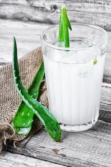 Healing drink with aloe