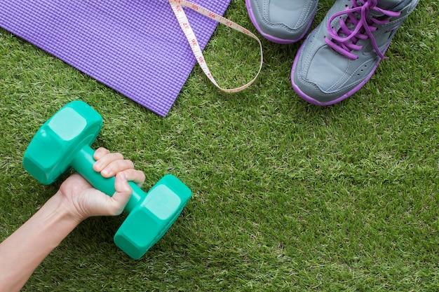 Концепция «здоровье и фитнес» для создания фона