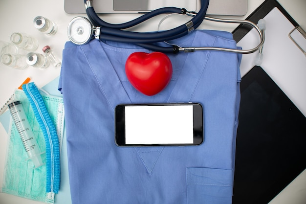 Health care medicine background copy space.specialist cardiology professional special list for your heart.banner concept.doctor health care conceptual .medical uniform professional.
