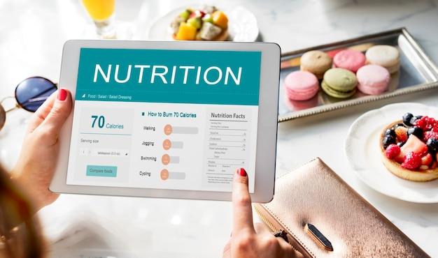 Health fitness nutrition monitor concetto di benessere