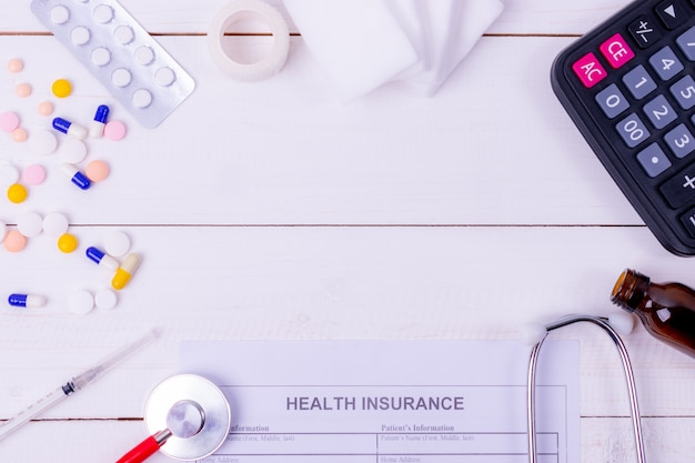 Health insurance and medical concept