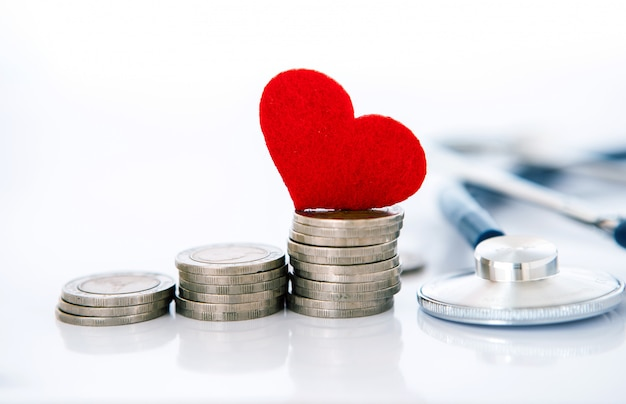 Health  insurance and medical healthcare heart disease