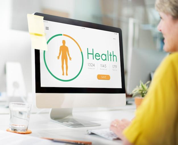 Concetto di esercizio medico di vita di salute