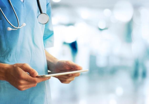 ヘルスケアと医学の概念。医者