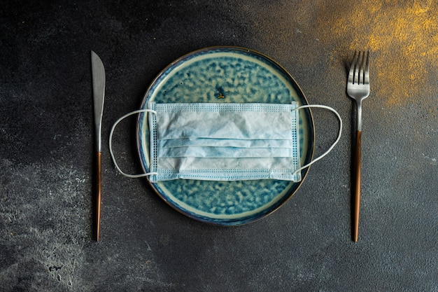 Healthcare concept with minimalistic table setting