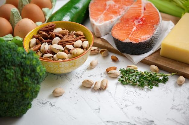 健康的なバランスの取れた食品のコンセプト